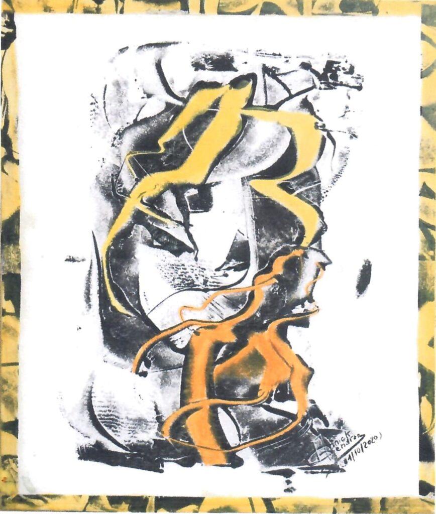 Exposition des peintures d'Annick Gendron à la Bibliothèque de Courcelles-Chaussy